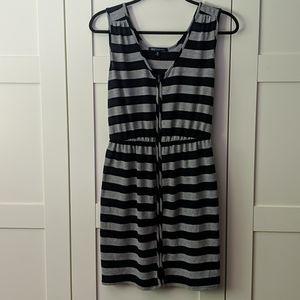 ❄️ 3/$35 Blue & Grey Striped Dress
